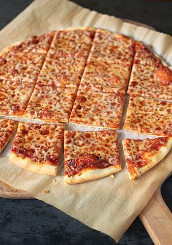 St. Louis Style Pizza~My favorite thin crust pizza and so easy to make! The dough does not have any yeast, so that is a plus in my book!