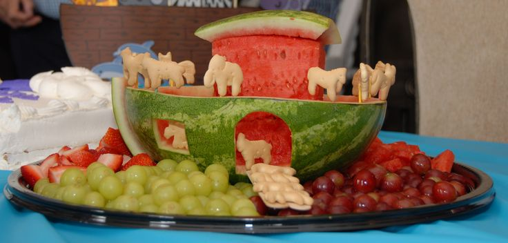 "Kevin made this for Luke's ""Noah's Ark"" themed Baptism party!"