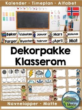 This Norwegian brown classroom decor pack is perfect for decorating your classroom, as well as adding strips with valuable information on the desks. Please note that the preview shows the contents of this pack, but in different colors. This pack contains the brown designs. $6.00
