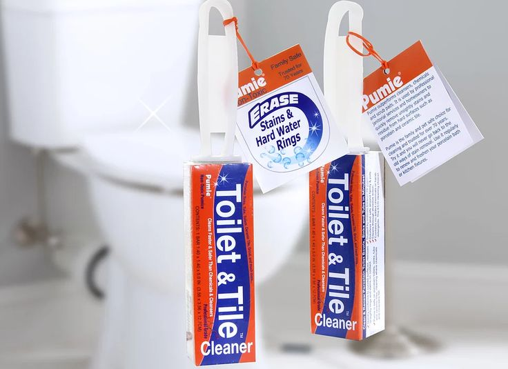 Toilet & Tile pumice stones quickly remove hard water rings without damaging toilet bowls. Ideal for removing toilet bowl rings and stains.
