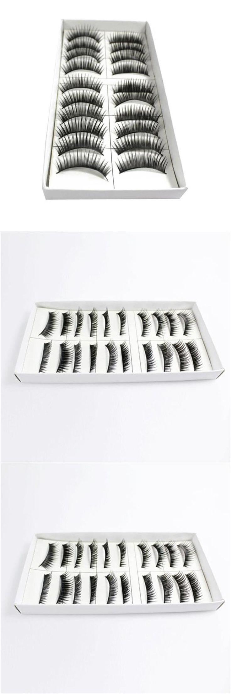[Visit to Buy] 10 Pair Thick Long False Eyelashes Eye Lashes Makeup (Valse wimpers Faux cils Pestanas postizas) #Advertisement