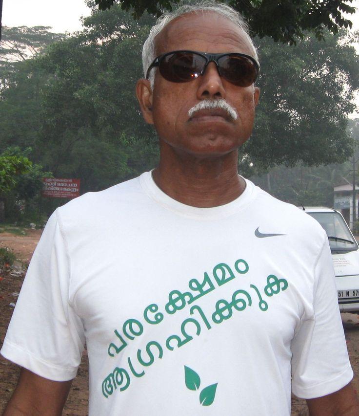 Dr.George R.Thomas during the 1030 km awareness run in 2008 about the dangers of the Burning of Plastic. #banasbestos   #banasbestoscanada   #banasbestosindia