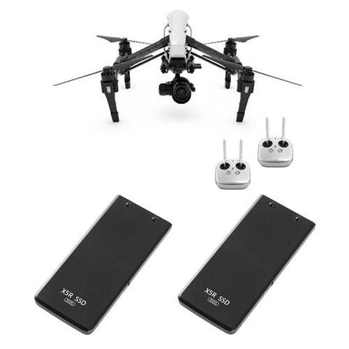 DJI Inspire 1 RAW Quadcopter with ZENMUSE X5R Camera and 3-Axis Gimbal - Bundle With 2x DJI Part 2 512GB SSD for Zenmuse X5R Camera The Inspire 1 is DJI's most advanced complete package. Carbon fiber arms give you the strength to maneuver in the air and they transform, moving out of the camera's way at the flick of a switch. The body's aerodynamic design cuts through the sky and further enhances your control over the aircraft. https://hobbiesandcrafts.boutiquecloset.com/produ