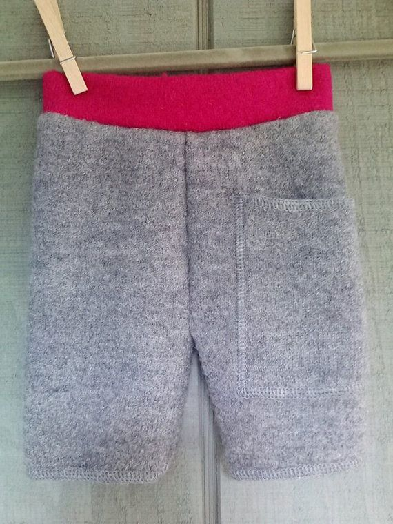Grey and pink newborn shorties by sweetbunnywool on Etsy, $16.00