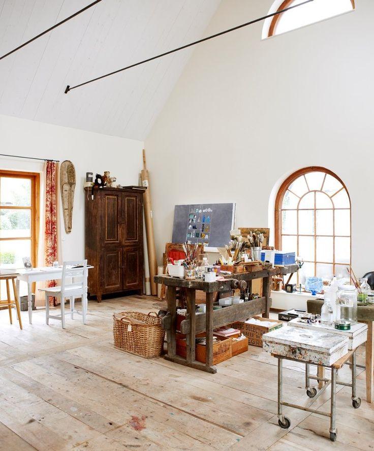 Madeleine Pyks studio home wish I had open work space