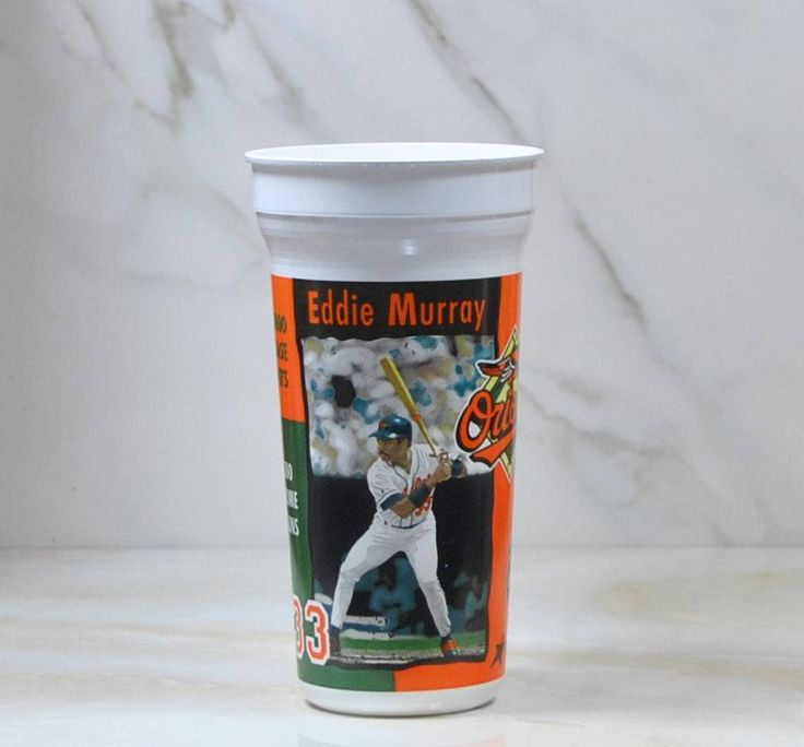 Vintage Eddie Murray, 33, Plastic Cup, 1996, Baseball, Baltimore Orioles, Coca Cola, Aramark, MLB, Genuine Merchandise, Vintage Baseball by winterparkcollect on Etsy