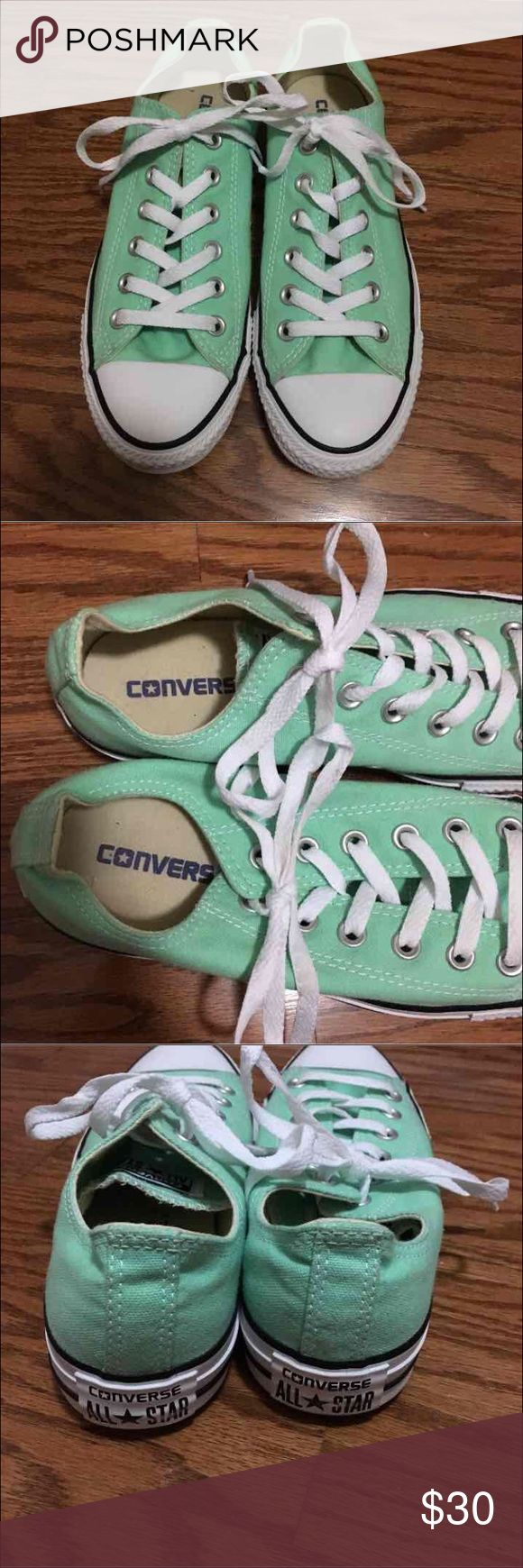 Teal all star converse Perfect condition, women's size 8 or men's size 6 Converse Shoes Sneakers