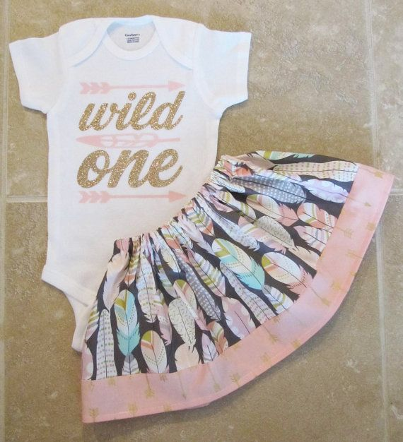 Wild One Tribal Princess First Birthday Outfit  by noellebydesign