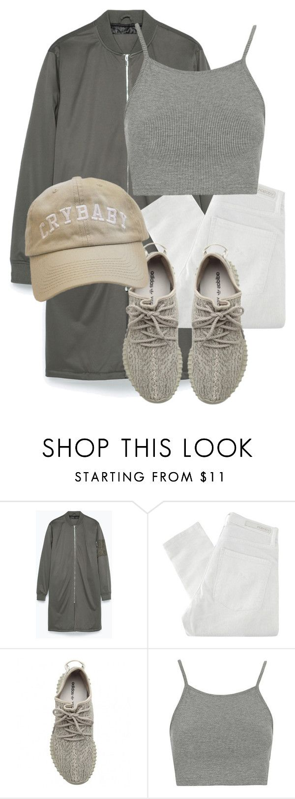 """Untitled #3220"" by xirix ❤ liked on Polyvore featuring Zara, Nobody Denim, adidas Originals, Topshop, women's clothing, women's fashion, women, female, woman and misses"