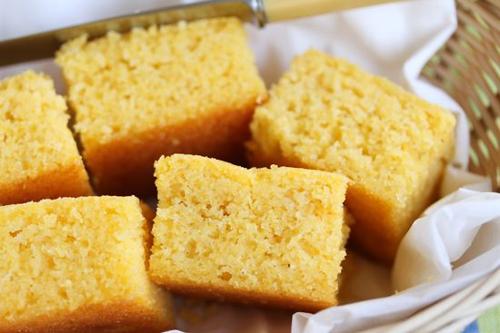 Soft, Sweet and Buttery Cornbread  Google Image Result for http://cookandbemerry.com/wp-content/uploads/2011/10/Cornbread-1-.jpg