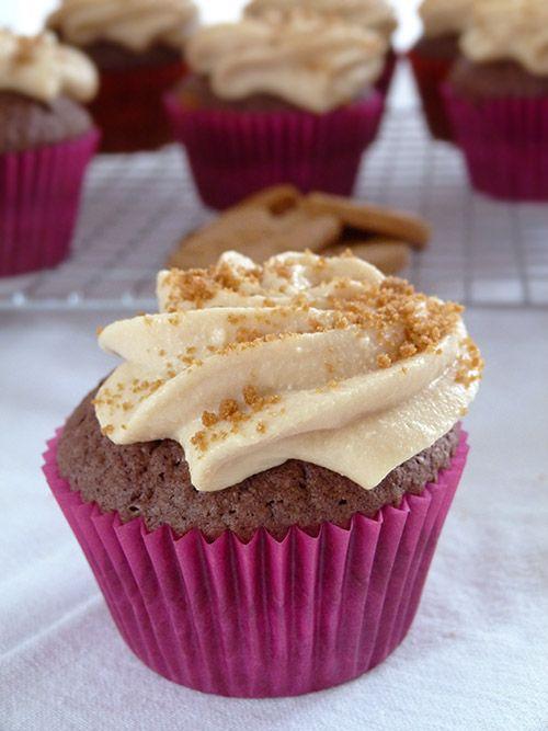 Cupcake au chocolat et spéculoos