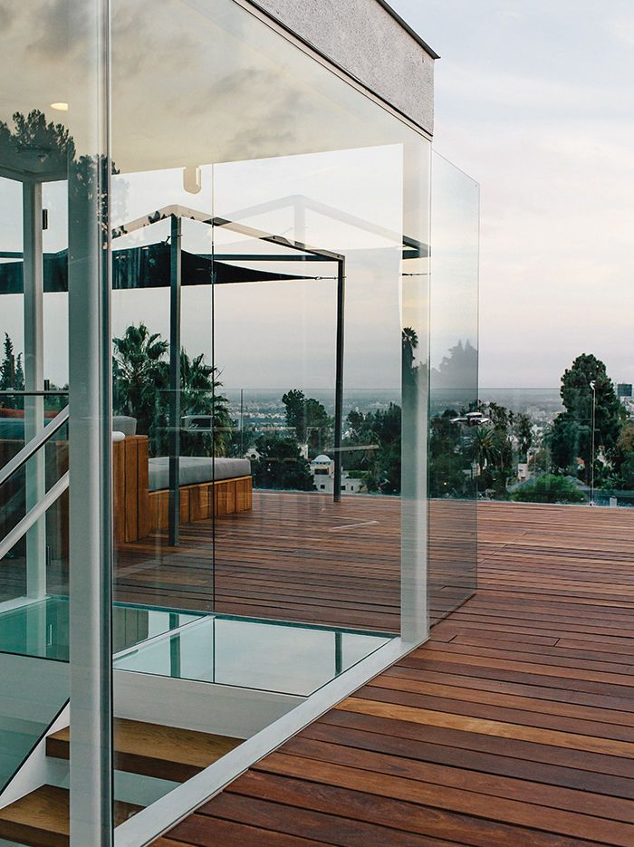 modern Los Angeles renovation by Don Dimster with custom furnishings on the roof deck