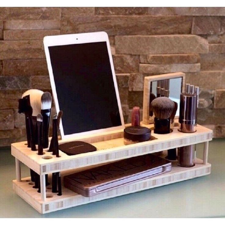 A personal favorite from my Etsy shop https://www.etsy.com/listing/269059124/wood-makeup-organizer-makeup-stand