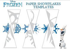 アナと雪の女王 雪の結晶切り絵