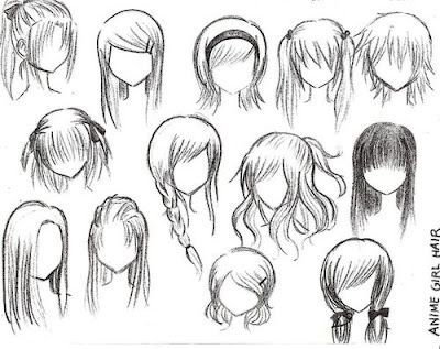 Best Hairstyle For Short Curly Hair Anime Girl HairstylesDrawing