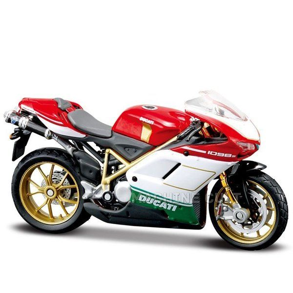 Miniatura Ducati 1098S Tricolore Maisto 1:18 - Machine Cult | Loja online especializada em camisetas, miniaturas, quadros, placas e decoração temática de carros, motos e bikes