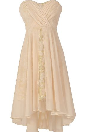 Midsummer Nights Dream Chiffon and Lace Designer Dress in Cream   www.lilyboutique.com
