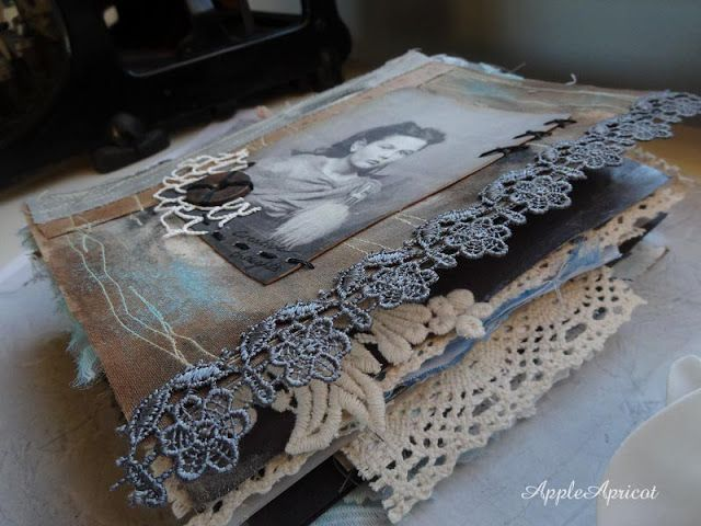 mixed media journal by AppleApricot
