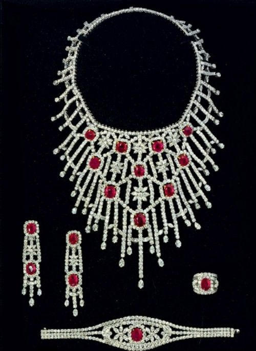 Diamond and Ruby parure by Jahan Nice! But a little too much for date night don't you think? :)))