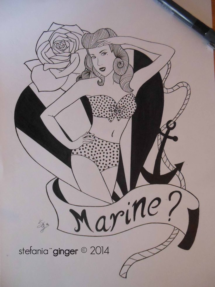 #Pinup #OldSchool A4 - ink