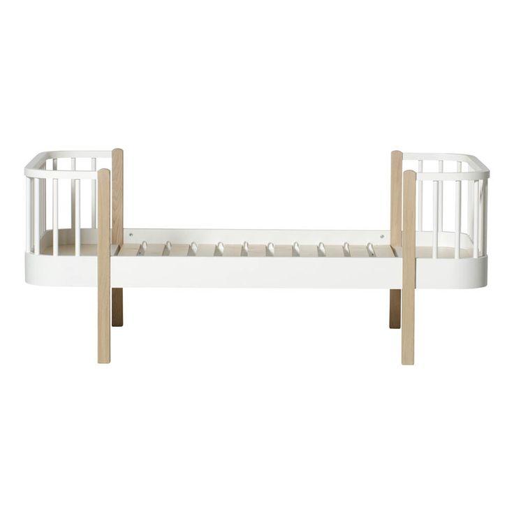 Oliver Furniture Lit junior 90x160 cm en chêne avec kit évolutif Naturel