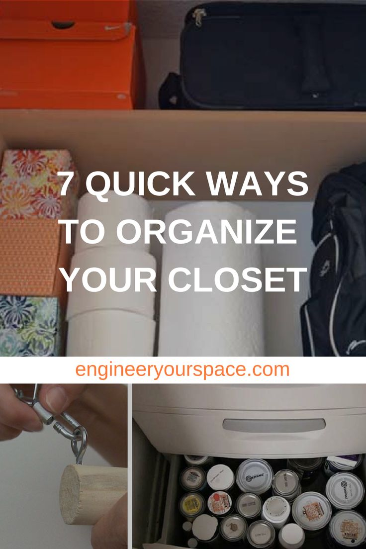 140 best images about by engineer your space on pinterest for Best way to organize your closet