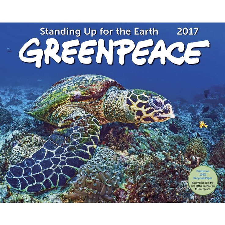 Greenpeace has been Standing Up for the Earth since 1971. This important, informative 2017 calendar supports the efforts of Greenpeace in full colour nature portraits by some of the worlds best photographers!