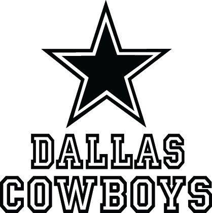 Dallas Cowboys Football Logo & Name Custom Vinyl by VinylGrafix