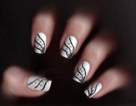 121 best Bridal Nails / Wedding manicure images on Pinterest - photo #30