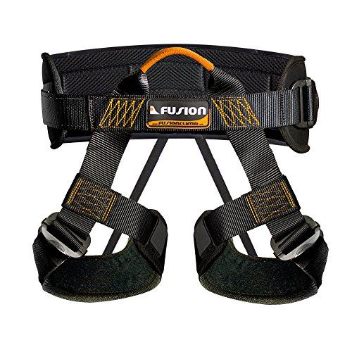 Fusion Climb Centaur Padded Half Body Harness Black with Elastic Strap Climbing Gym Rope BlackOrange ** Read more reviews of the product by visiting the link on the image. This is an Amazon Affiliate links.