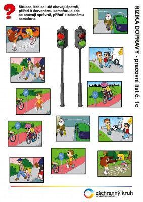 Dopravní výchova - Chůze po chodníku, Záchranný kruh