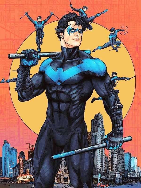 Nightwing Variant Cover By Kenneth Rocafort Nightwing Superhero