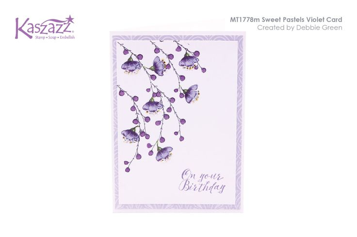 MT1778m Sweet Pastels Violet Card