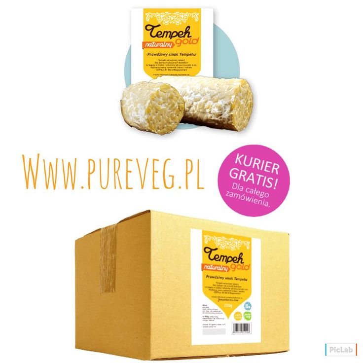Tempeh na teraz i na później na www.pureveg.pl. Tempeh BOX12 Natural z bezpłatną dostawą #tempeh #tempehgold #tempehbox #pureveg