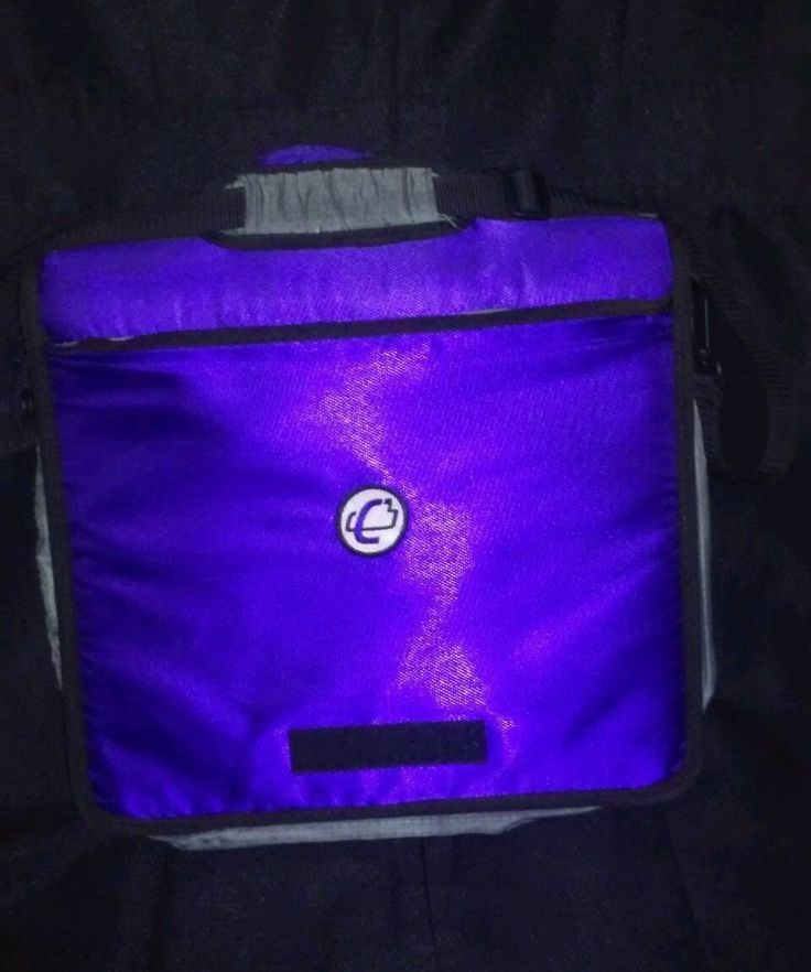 Case-it D-901Purple 2 inch O-Ring Zipper Binder Organizer with Shoulder Strap  #Caseit