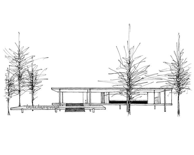farnsworth house tattoo  Google Search  graduation  Pinterest  Dessin and Tableau