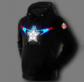 Captain America glow in the dark hoodie for men Avengers Age of Ultron