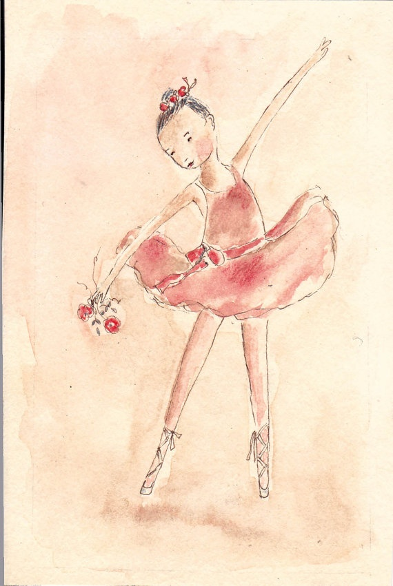 Sweet Ballerina by kryskirkpatrick on Etsy, $28.00