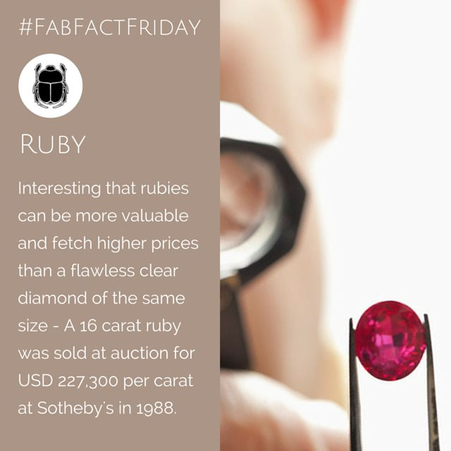 """Amazing! Did you know Rubies can be more expensive than a flawless diamond? The best ones come from Myanmar (Burma) - hence the """"Burmese Ruby"""" and are extremely rare. Most of the rubies found on the market today are mined from Thailand, Madagascar, India and Sri Lanka."""