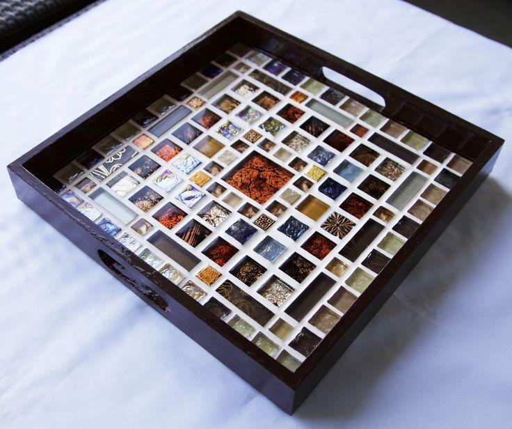 Les 25 meilleures id es de la cat gorie plateaux de table en mosa que sur pinterest tableaux - Modele mosaique pour plateau ...
