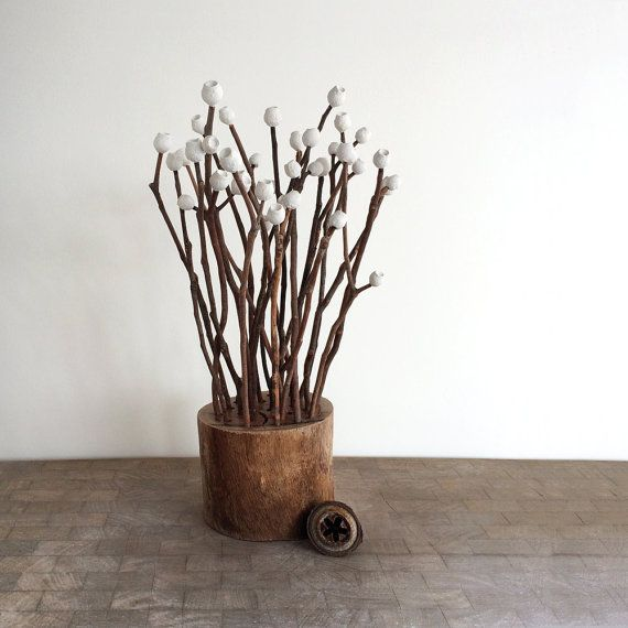 Do you like decorating your home with woodsy things? Me too! I have made these gumnut sticks with cast plaster gumnuts and eucalyptus twigs from my