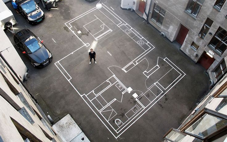 コンクリに描いた、等身大スケールの建築設計図 – VIP WORKS
