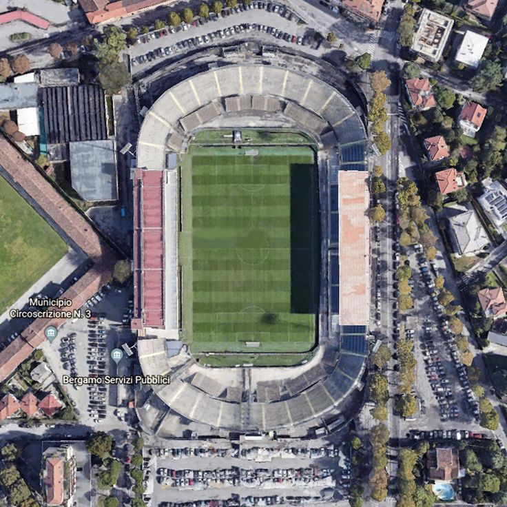 Gweiss Stadium (Bergamo - BG) 2D   Atalanta bc, Stadium ...