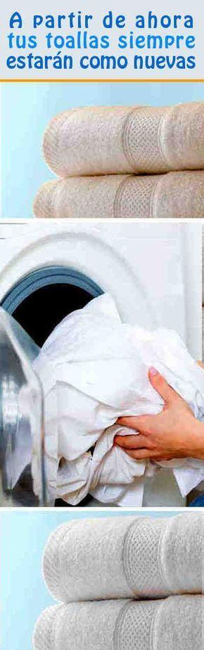 A partir de ahora tus toallas siempre estarán como nuevas e incluso mejores. Simplemente hasta hoy no sabías qué hacer!