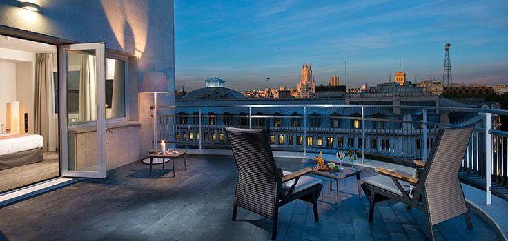 Terraza habitación en Hotel Innside Madrid Suecia