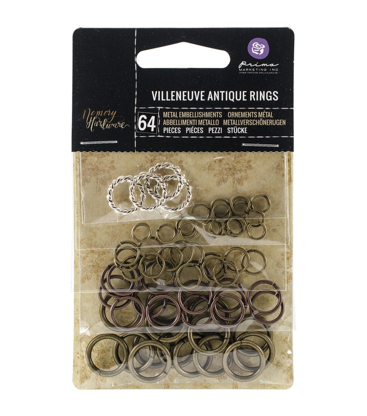 Prima Marketing Memory Hardware Embellishments - Villeneuve Metal Rings