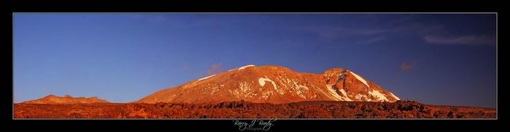 Mount Kilimanjaro, halfway up the mountain at sunset...