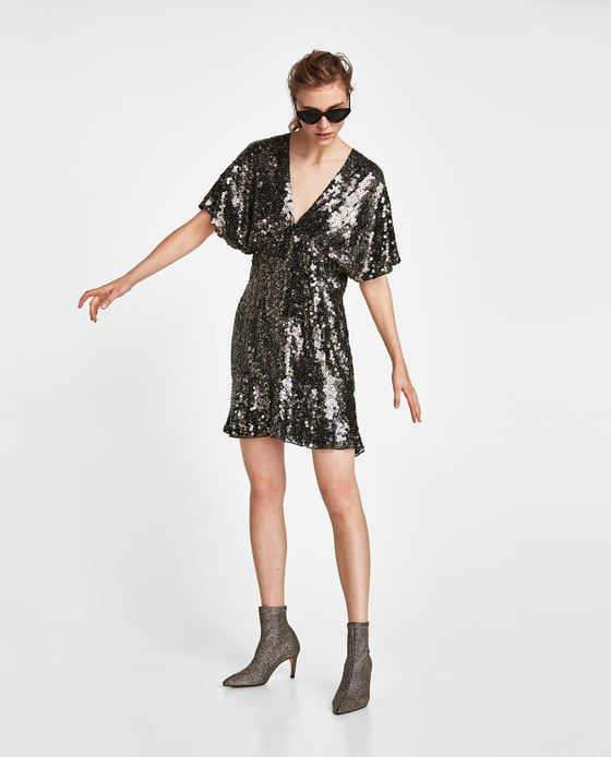 limited edition mesh sequin dress