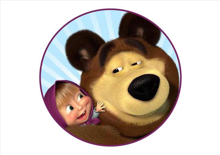 Stampa alimentare su ostia o pasta di zucchero masha e l'orso di Yummystampe su Etsy
