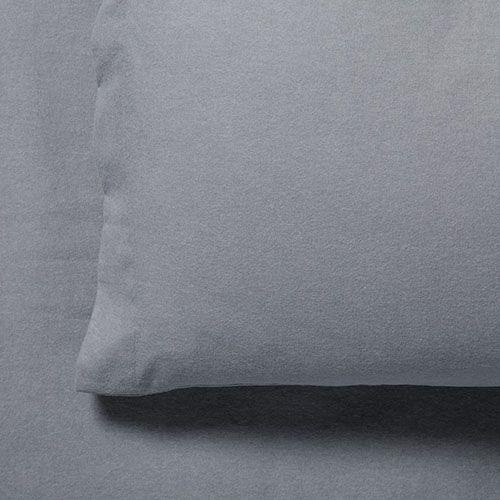 Plain Dye Flannelette Sheet Set Grey